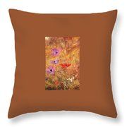 anemones 1876 Henry Roderick Newman Throw Pillow