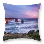 12 Apostles At Sunset II Throw Pillow