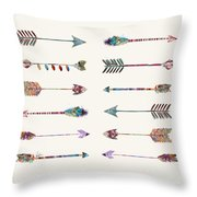 12 Arrows Throw Pillow