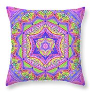 Birth Mandala- Blessing Symbols Throw Pillow