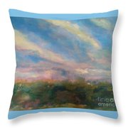 12 Brushstroke Beauty Throw Pillow