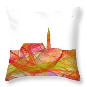 Cheyenne Wyoming Skyline Throw Pillow