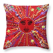 6th Days Of Christmas Throw Pillow