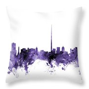 Dublin Ireland Skyline Throw Pillow