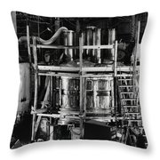12 Foot Liquid Hydrogen Bubble Chamber Throw Pillow