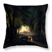 Forest Path Near Spandau Throw Pillow