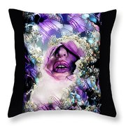 Hidden Face With Lipstick Throw Pillow