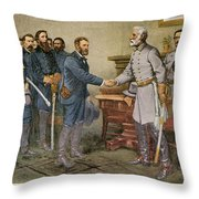 Lees Surrender 1865 Throw Pillow by Granger