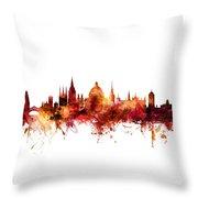 Oxford England Skyline Throw Pillow