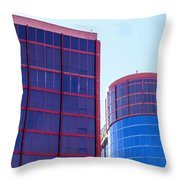 Rio Red And Blue Throw Pillow
