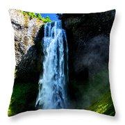 Salt Creek Falls Throw Pillow