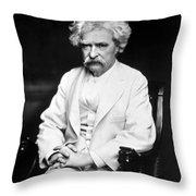 Samuel Langhorne Clemens Throw Pillow