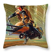 Star Wars Episode 2 Poster Throw Pillow
