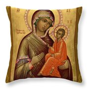 Virgin And Child Religious Art Throw Pillow