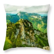 A Landscape Nature Throw Pillow