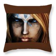 120941 The Elder Scrolls V Skyrim Wizard Blue Eyes Throw Pillow