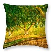 Nature Art Original Landscape Paintings Throw Pillow