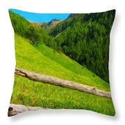 Nature Landscape Art Throw Pillow