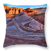 Fire Wave Panorama Throw Pillow