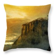 A Landscape Nature Throw Pillow