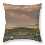 Sunny Transcarpathia Throw Pillow