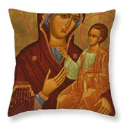 Madonna Enthroned Throw Pillow