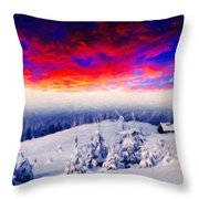 Nature Original Landscape Painting Throw Pillow