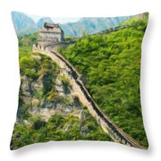 Nature Scenery Oil Paintings On Canvas Throw Pillow