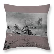 12th Panzer Division On The Move To Stalingrad August 1942 Color Added 2016 Throw Pillow