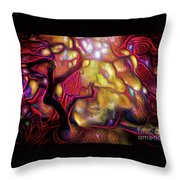13 Abstract Japanese Maple Tree Throw Pillow