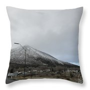 Arizona Mountain Landscape Throw Pillow