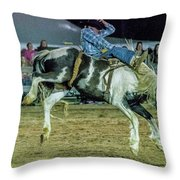 Bronco Riding Throw Pillow