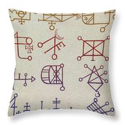 Cabbalistic Signs And Sigils, 18th Throw Pillow