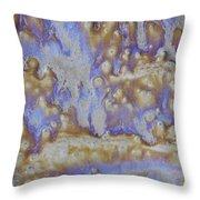 13. Cascade Brown Glaze Painting Throw Pillow