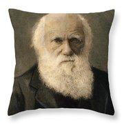 Charles Robert Darwin, 1809-1882 Throw Pillow