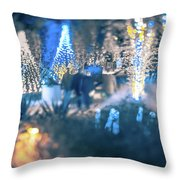 Christmas Light Bokeh At Daniel Stowe Gardens Belmont North Caro Throw Pillow