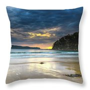 Cloudy Sunrise Seascape Throw Pillow