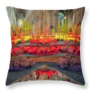 Ely Cathedral Flower Festival Throw Pillow by James Billings