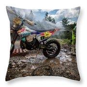Enduro Race  Throw Pillow