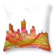 Fort Worth Texas Skyline Throw Pillow