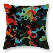 Fractal Modern Art Seamless Generated Texture Throw Pillow