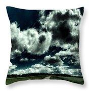 Framed Landscape Art Throw Pillow