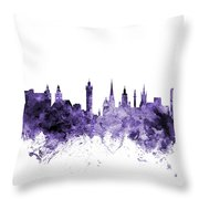 Glasgow Scotland Skyline Throw Pillow