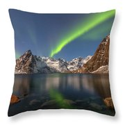 Hamnoy Lofoten - Norway Throw Pillow