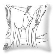 Homer: The Iliad Throw Pillow