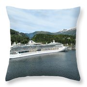 ketchikan alaska downtown of a northern USA town Throw Pillow