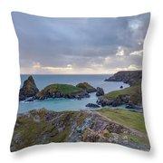 Kynance Cove - England Throw Pillow