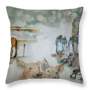 Land Of Clogs And Windmill Album Throw Pillow