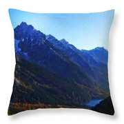 Landscapes Drawings Throw Pillow