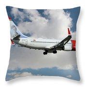Norwegian Boeing 737-8jp Throw Pillow